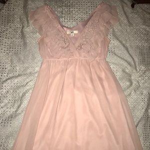 Light pink YA Los Angeles dress